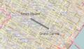 Mappa della navetta 42nd Street della metropolitana di New York.png