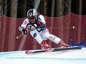 Hirscher in gara a Hinterstoder l'11 gennaio 2008