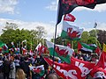 March for Welsh Independence arranged by AUOB Cymru First national march; Wales, Europe 13.jpg