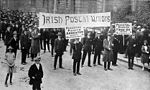 March of Irish Postal Workers Strike with banners September 1922.jpg