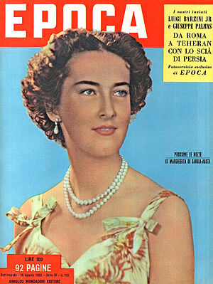 Margherita, Archduchess of Austria-Este - Princess Margherita on 30 August 1953 cover of Epoca