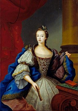 Maria I of Portugal - Maria Francisca Isabel, Princess of Brazil; Vieira Lusitano, 1753.