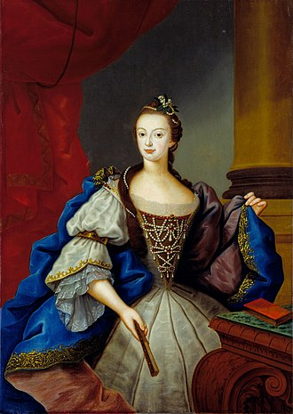 Maria I of Portugal - Maria Francisca Isabel, Princess of Brazil; Vieira Lusitano, 1753.