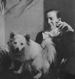 Maria von Linden - Linden with her dog in 1902