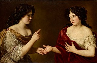 Hortense Mancini, Duchesse de Mazarin (1646-99) and her sister, Marie Mancini (1639-1715)