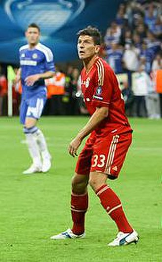 Mario Gómez - Gómez with Bayern Munich in the 2012 UEFA Champions League Final