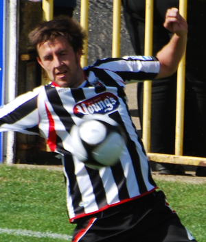 Mark Hudson (footballer, born 1980) - Hudson playing for Grimsby Town in 2010