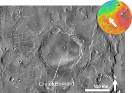 Martian crater Bernard based on day THEMIS.png