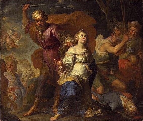 De hellige Dympnas og Gereberns martyrium av Jacques de l'Ange eller Gerard Seghers