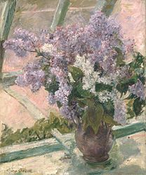 Mary Cassatt: Lilacs in a Window