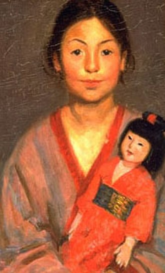 Mary Foote - Mary Foote, Oriental Girl with Doll, oil on canvas, 21.5 x 13.25 inches, c. 1898-01