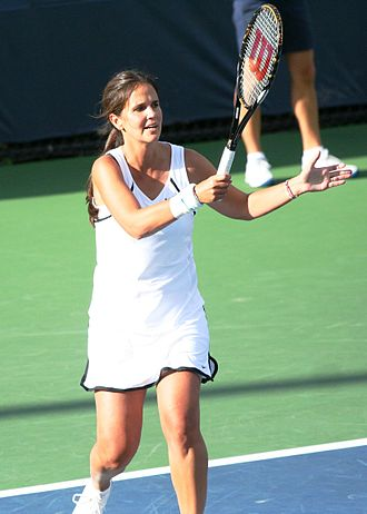 Mary Joe Fernández - Image: Mary Joe Fernández at the 2010 US Open 01