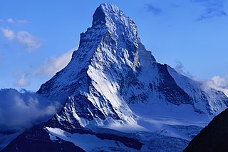 Matterhorn mountain in the Pennine Alps on the border between Switzerland and Italy