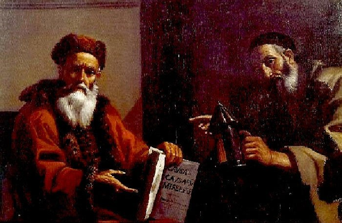 Mattia Preti - Platone e Diogene