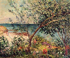 Jardin près de la mer