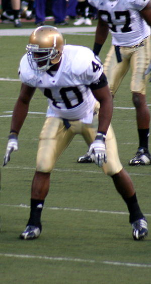 2008 Notre Dame Fighting Irish football team - Two-time captain Maurice Crum Jr.