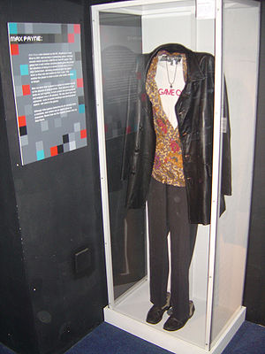 Max Payne (character) - An outfit worn by Sam Lake for Max's role in the original game's cutscenes on display at Game On exhibition in the Science Museum