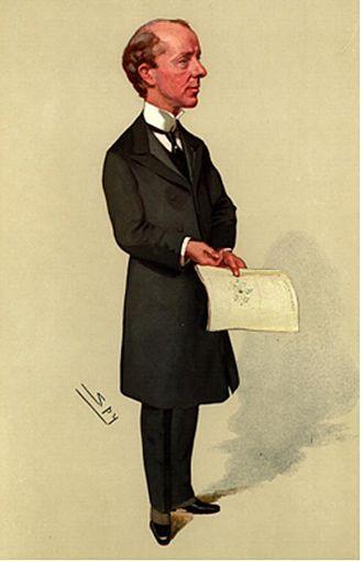"""Reginald McKenna - Reginald McKenna by Leslie Ward (Vanity Fair caricatures) entitled """"In the winning crew"""""""