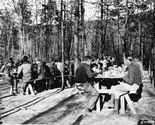 Meal time at CCC Camp Roosevelt, George Washington National Forest, Virginia (3226029283).jpg