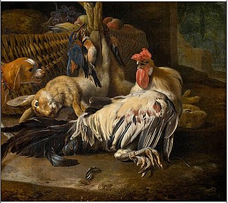 Melchior d'Hondecoeter - Still Life with Cock, Royal Museum of Fine Arts Antwerp