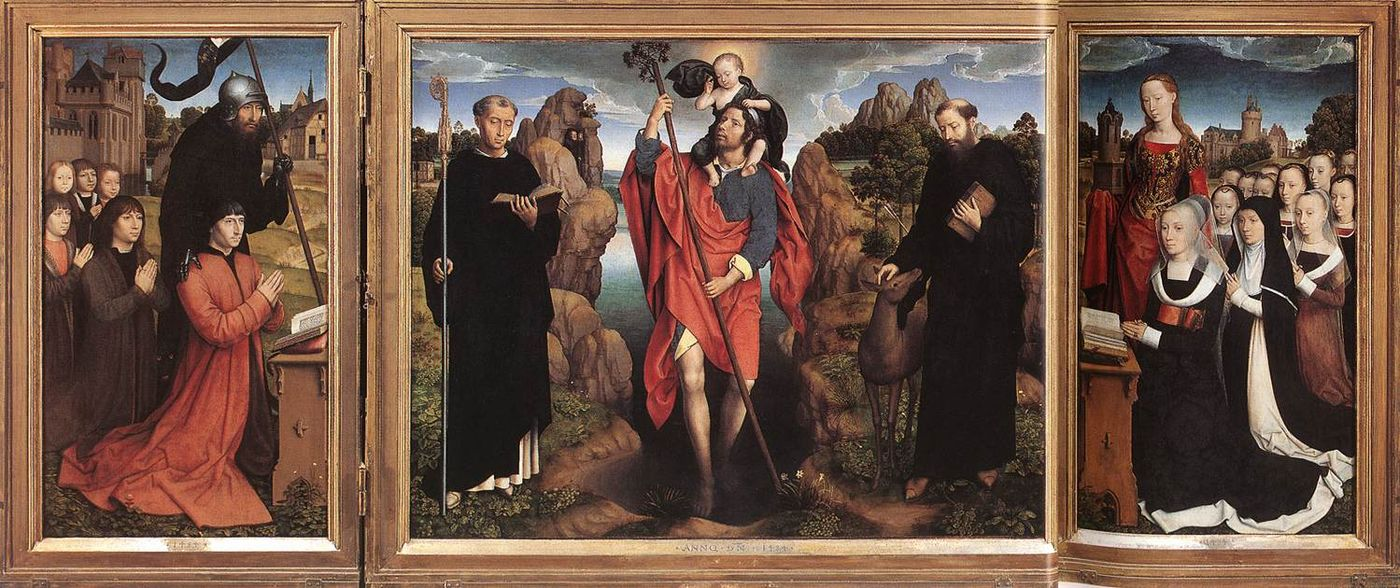 Central panels of the Moreel Triptych