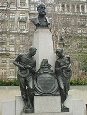 Memorial to Samuel Plimsoll on Victoria Embankment London