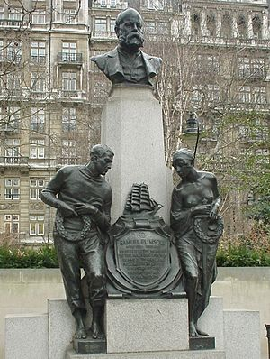 Samuel Plimsoll - Memorial to Samuel Plimsoll on Victoria Embankment, London