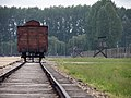 Memorial traincoach at Auschwitz-Birkenau (Oświęcim, Poland 2014) (14136019829).jpg