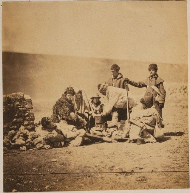 Men of 47th Regiment in winter dress crimea c 1855