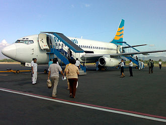Merpati Nusantara Airlines - Merpati's Boeing 737-217/adv at Adisucipto International Airport, Yogyakarta.