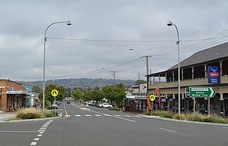 Merriwa, New South Wales - Bettington Street (Golden Highway), the main street of Merriwa, 2017