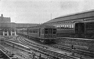 Mersey Railway electric units - Image: Mersey Railway (All About Railways, Hartnell)