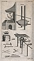 Metals; a furnace and various implements used in smithing. E Wellcome V0023649.jpg