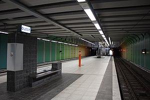 Charleroi-West railway station - Image: Metro Charleroi Ouest station