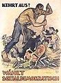 Mihaly Biro - Kehrt aus! Wählt sozialdemokratisch, 1920.jpg