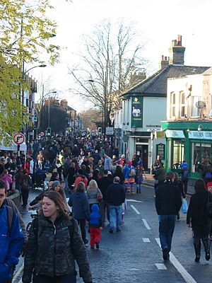 Mill Road, Cambridge - Image: Mill Road Winter Fair 2009