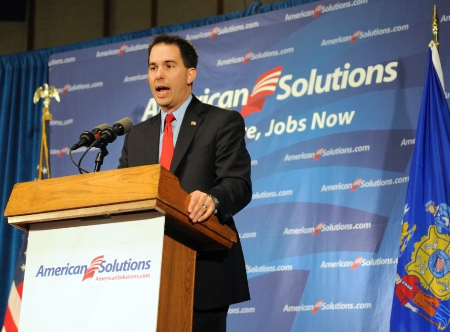 Milwaukee County Executive Scott Walker runs for Governor of Wisconsin in October 2010