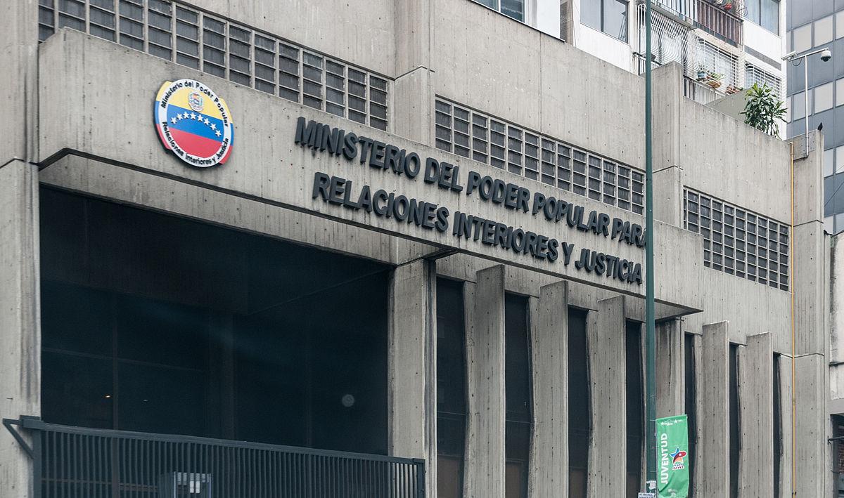 Ministerio del poder popular para relaciones interiores for Ministerio de interior y justicia direccion