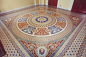 Mintons - A Minton encaustic tile floor at the United States Capitol.