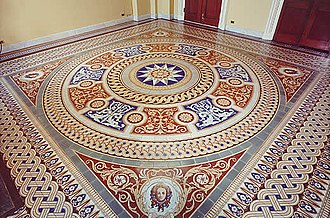 Mintons - Mintons encaustic tile floor at the United States Capitol, 1856