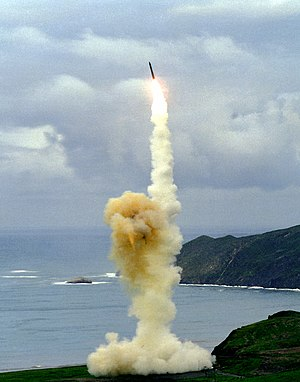 United States Air Force - Test launch of a LGM-30 Intercontinental Ballistic Missile from Vandenberg AFB