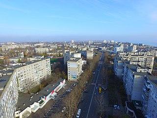 Chornomorsk City in Odessa Oblast, Ukraine