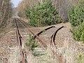 Mirow Bahnstrecke Wittenberge–Strasburg mit abgebautem Abzweig nach Rechlin 2010-04-07 078.jpg