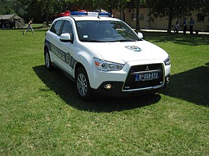 Law enforcement in Serbia - Image: Mitsubishi RVR police