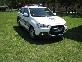 Law enforcement in Serbia - Image: Mitsubishi RVR police