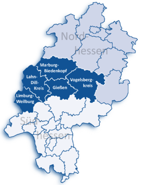 Localisation de District de Gießen