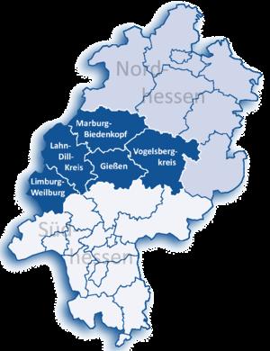 Giessen (region) - Image: Mittelhessen districts
