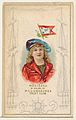 Modjeska in Colors of Williamsburgh Yacht Club, from the Yacht Colors of the World series (N140) issued by Duke Sons & Co. to promote Honest Long Cut Tobacco MET DP865745.jpg