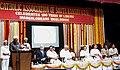 Mohd. Hamid Ansari addressing at the Valedictory Function of the centenary celebrations of the Catholic Association of South Kanara, in Mangalore. The Governor of Karnataka, Shri Vajubhai Rudabhai Vala is also seen.jpg