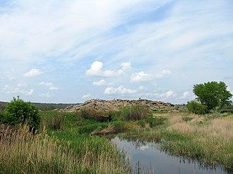 Kamyana Mohyla - Site landscape